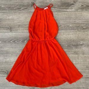 Lush hot orange mini dress💃🏼